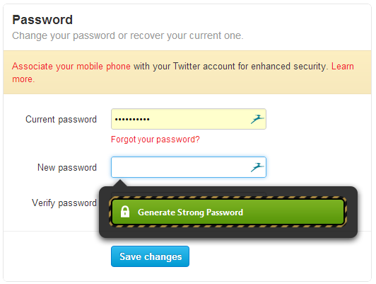 Click to Generate Strong Password