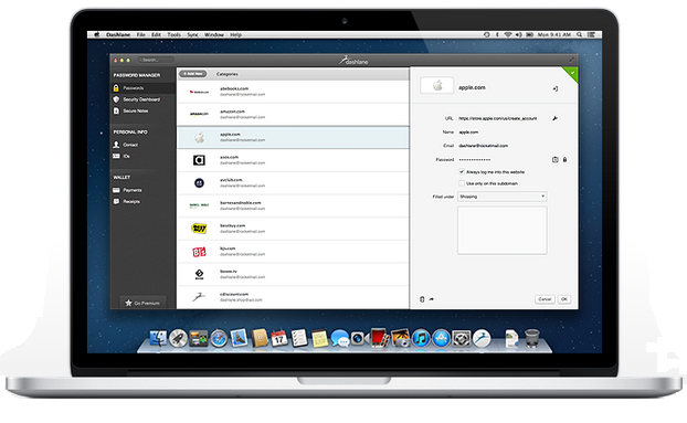 dashlane 2.0 on Mac